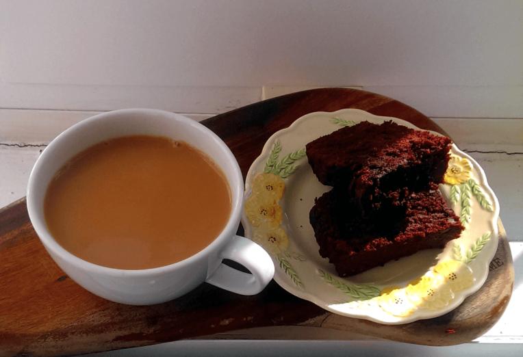 Tea and Double Chocolate Banana Bread