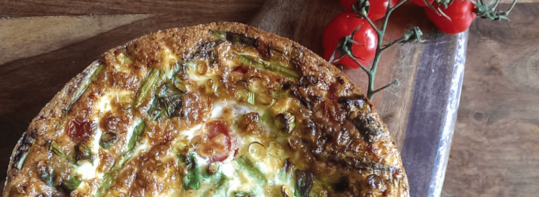 Fast and Healthy Asparagus & Tomato Frittata